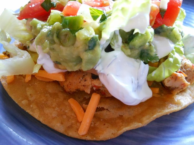 -- Chicken Tostadas with salsa fresco, guacamole, and cilantro lime ...