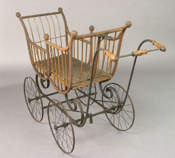 American Victorian stick and ball baby carriage from liveauctioneers.com