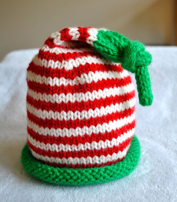 Christmas Elf Hat - Hand Knit