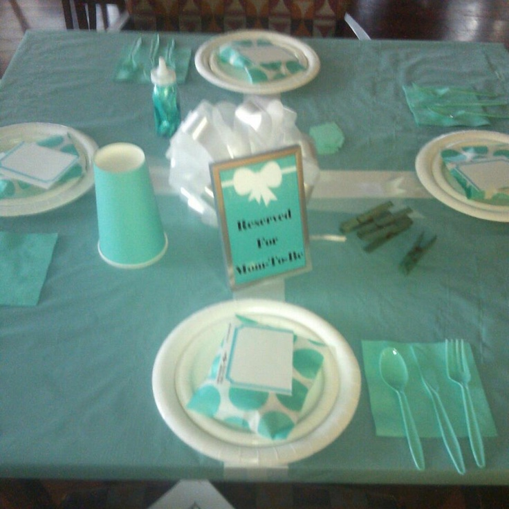 tiffany co baby shower that i hosted table decor