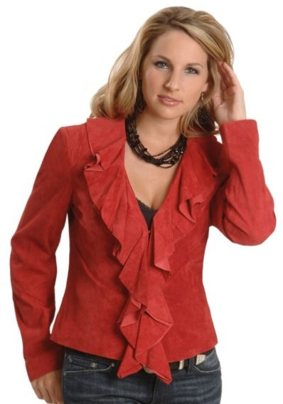 Check out this Scully Ruffled Suede Leather Jacket from Sheplers
