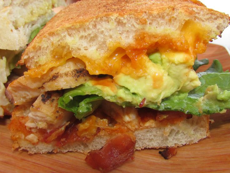 Bacon Jam Chicken Club Sandwich With Avocado And Chipotle ...