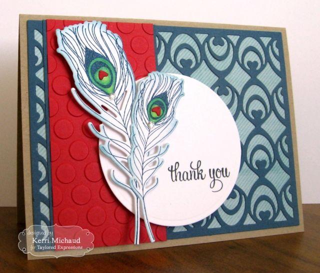 Wispy Thank You Card by Kerri Michaud #ThankYou, #Cardmaking, #CuttingPlates