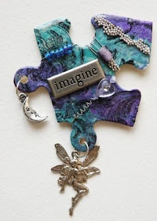 Altered puzzle piece pin