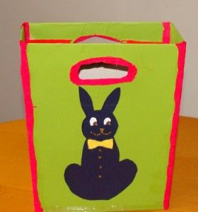 Cereal Box Easter bunny bag...