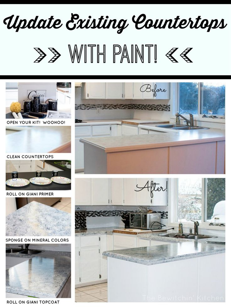 Painting Kitchen Countertops With Giani Granite