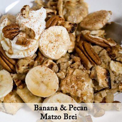 Banana & Pecan Matzoh Brei - Crush 2 1/2 matzoh crackers into a large ...
