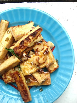 Caramel and Macadamia Nut Tofu   My kind of food.   Pinterest
