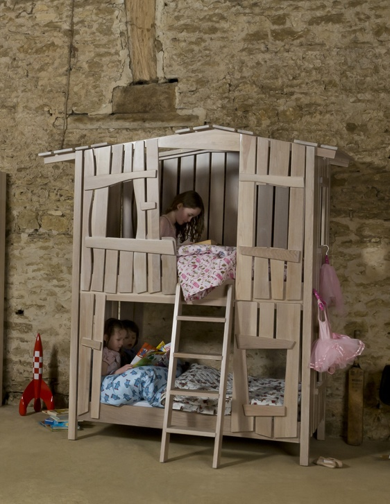 Tree house bunk bed kiddos pinterest for Treehouse toddler bed