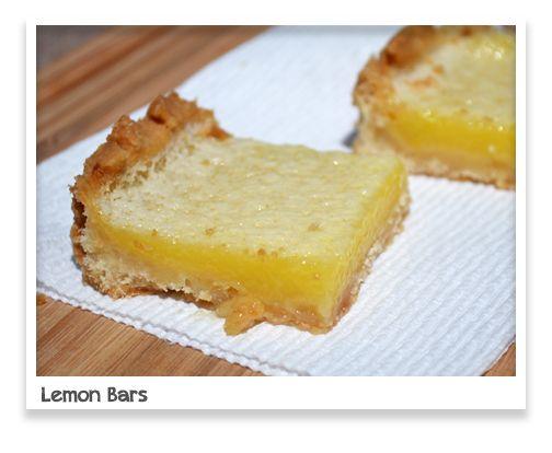 Classic Lemon Bars | Desserts & Baking | Pinterest