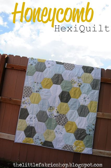 The Little Fabric Blog: Half Hexi Quilt + A GIVEAWAY!