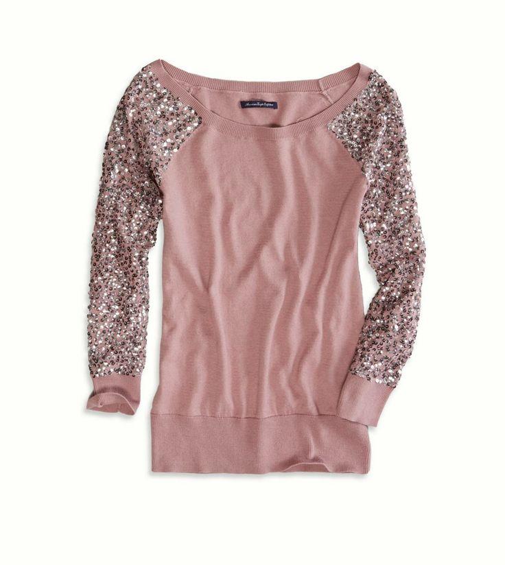 blush pink sweatshirt American Eagle