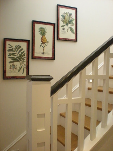 Stair Rail Idea.  Replacing the railings.
