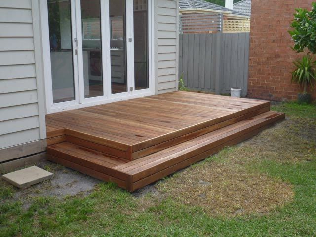 Decking steps decor pinterest for Front garden decking ideas