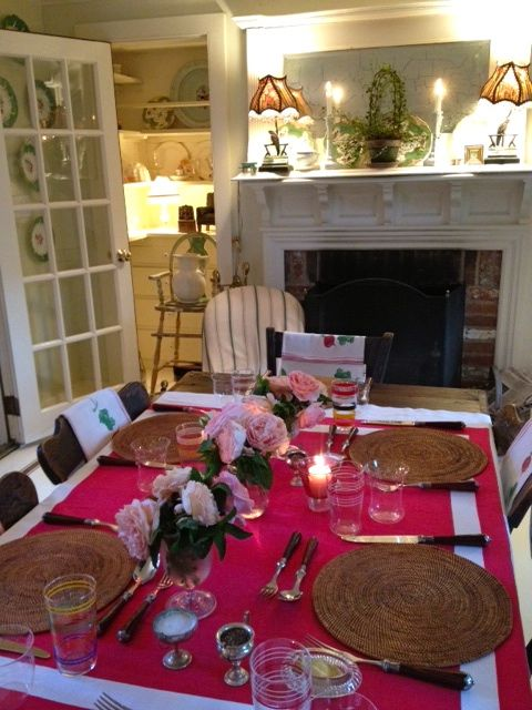 Valerie Smith's dining room in East Hampton, via FrancesSchultz.com