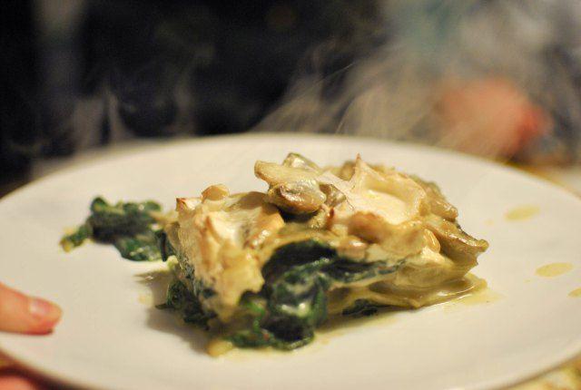Wild Mushroom And Spinach Lasagna Recipe — Dishmaps