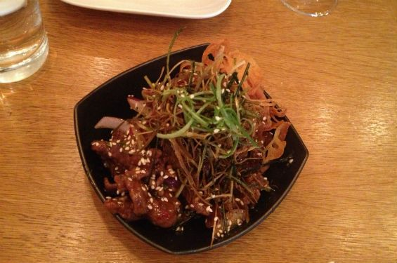 no 50 spicy crispy # beef from redfarm