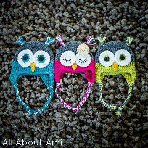 Free Pattern Crochet Owl Hat : Crochet Owl Hat-Free Pattern Crochet Pinterest