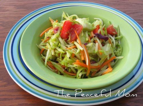 broccoli slaw salad with honey mustard yogurt dressing broccoli slaw ...