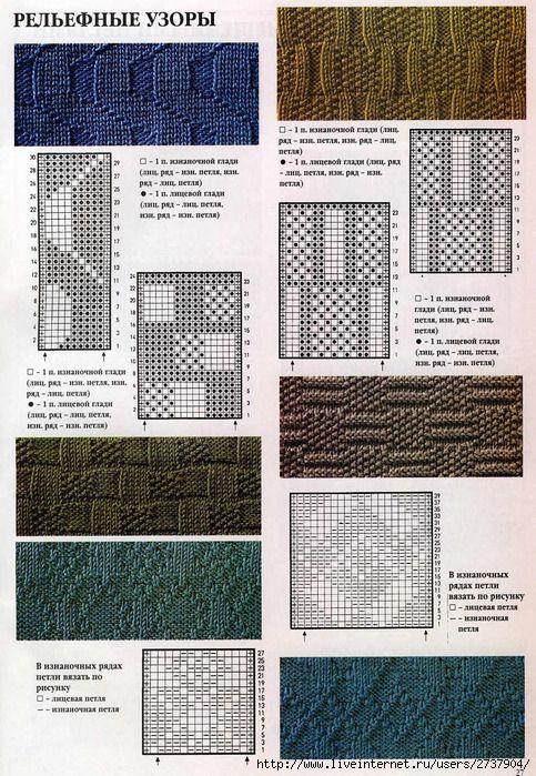 Вязание и схема мужского шарфа 882