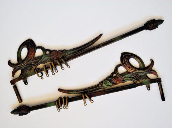 Extendable swing arm curtain rod - Cast Iron Curtain Rods Swing Arm Extendable Swirl And