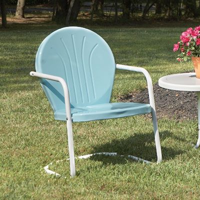 Retro metal lawn chair 89 95 timeless style with modern durability