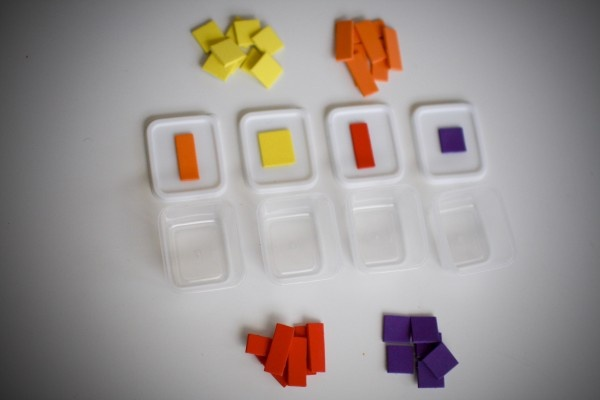 Foam Sorting by Color and Shape