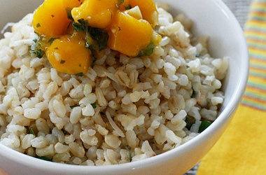 Brown Coconut Rice with Cilantro | food delights! | Pinterest
