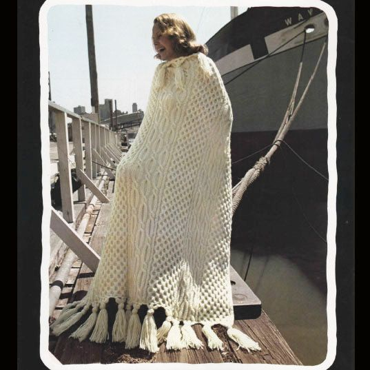 Fishermen afghan pattern book total 10 patterns for cable knit be