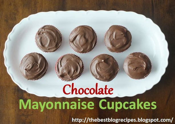 Mayonnaise Cupcakes With Caramel-Butterscotch Buttercream Frosting ...