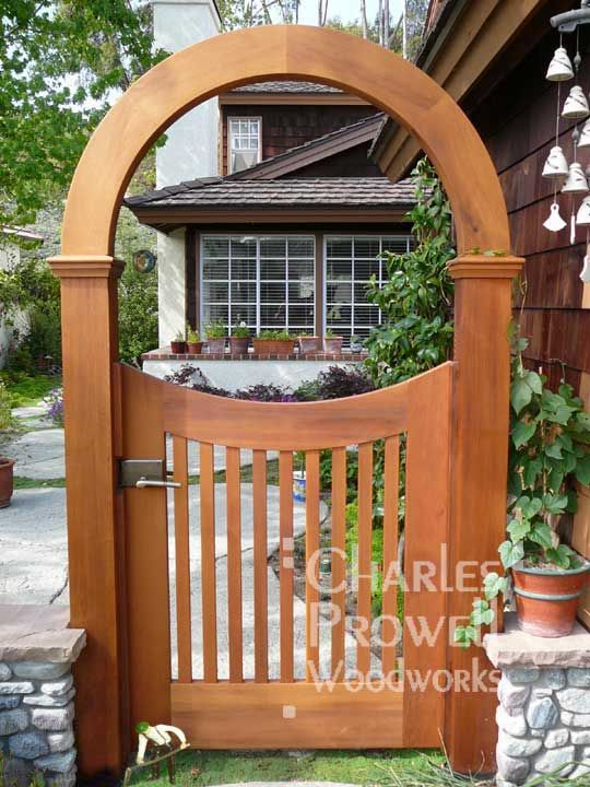 Wooden Garden Gate with arch Backyard Fences Pinterest