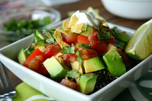 Vegetarian Black Quinoa Taco Salad
