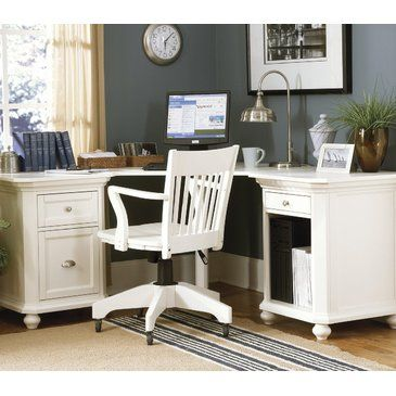 Homelegance Hanna Corner Desk In White