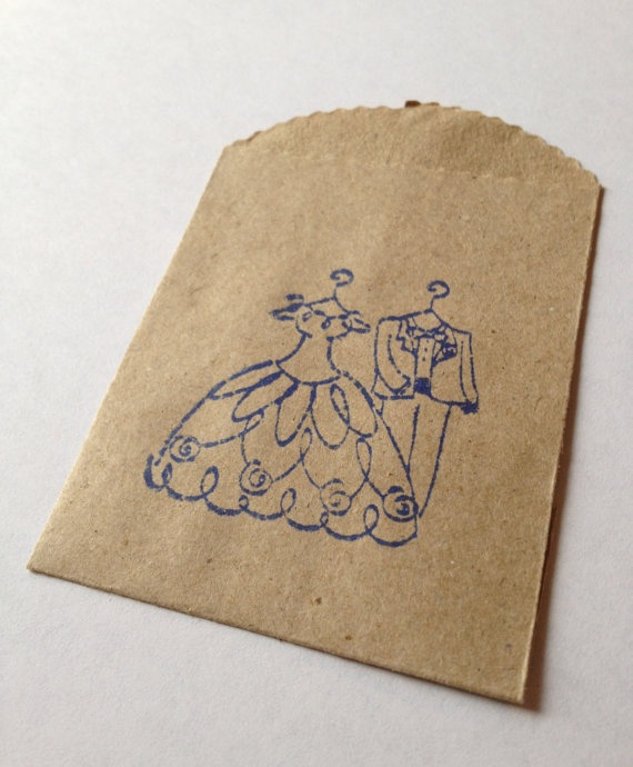 Bride and Groom Wedding Favor Gift Bags / Bridal Shower Favor Bags ...