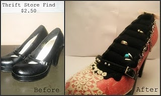 Repurposed shoe is a jewelry holder!