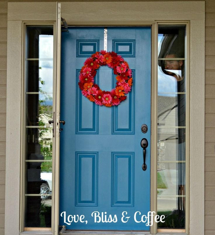Blue Front Door Love It Pinterest