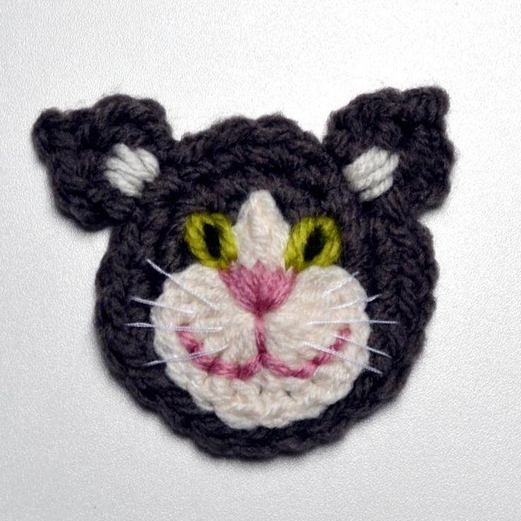 Cat Applique Crochet Pattern crochet Pinterest