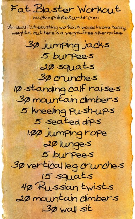 Fat buster workout
