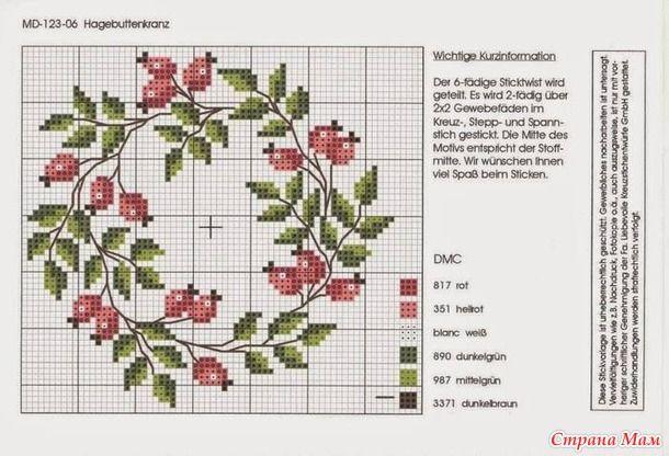 """Схема вышивки """"Овощной венок"""" МирТесен - рекомендательная социальная сеть"""