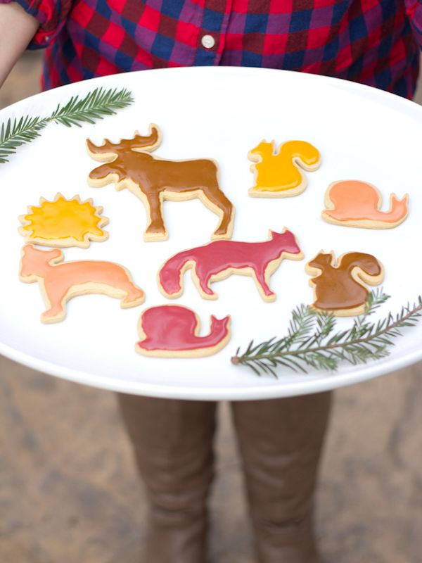 Sugar cookies are a lovely treat to bake to spread Christmas cheer... and I especially love the shapes of these homemade cookies by @Chelsea Costa. The forest animals are just TOO sweet! /ES