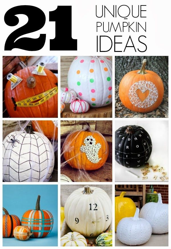 Halloween Unique Pumpkin Ideas Holiday Fun Pinterest