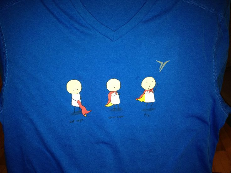 Get cape. Wear cape. Fly. t-shirt design