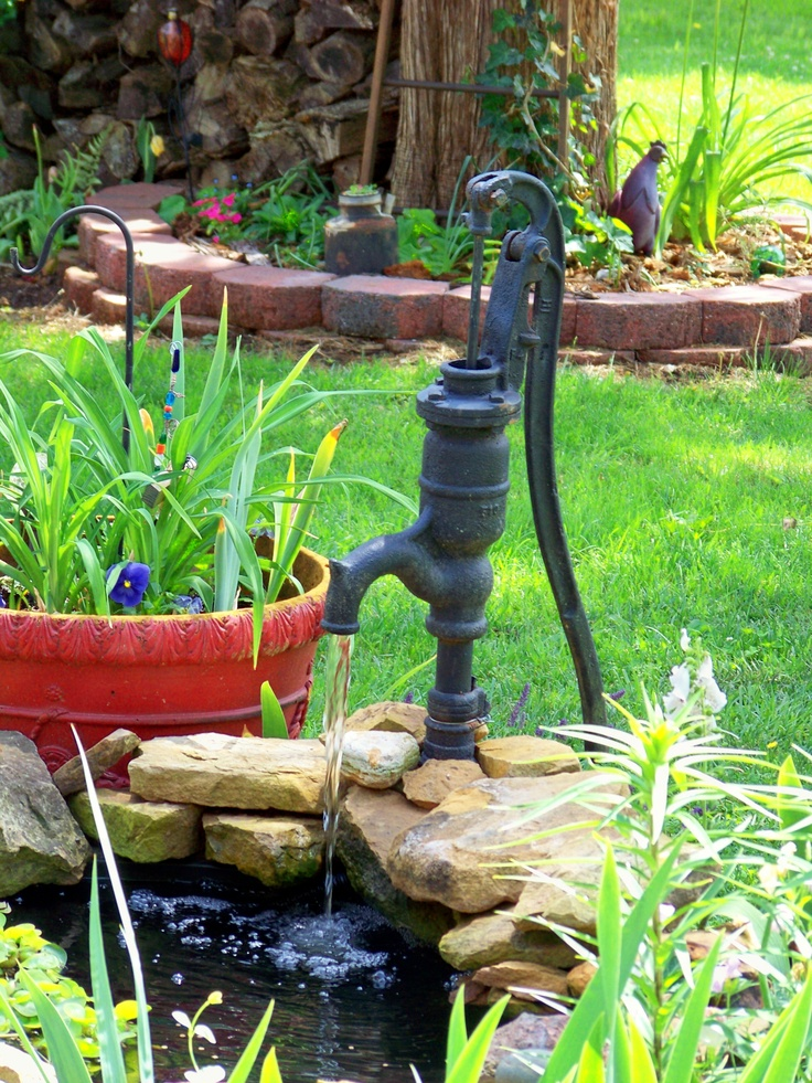Added the old pump to the pond water pumps for my for Garden pond equipment