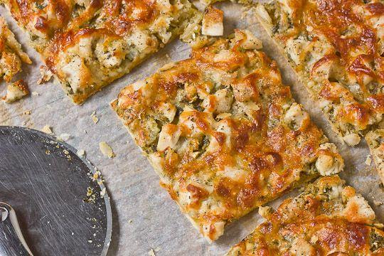 Pesto Chicken Tart by @theKitchn