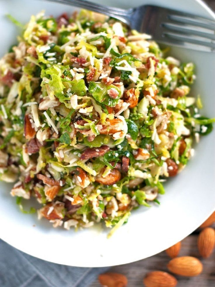Bacon and Brussel Sprout Salad | recipes to try | Pinterest