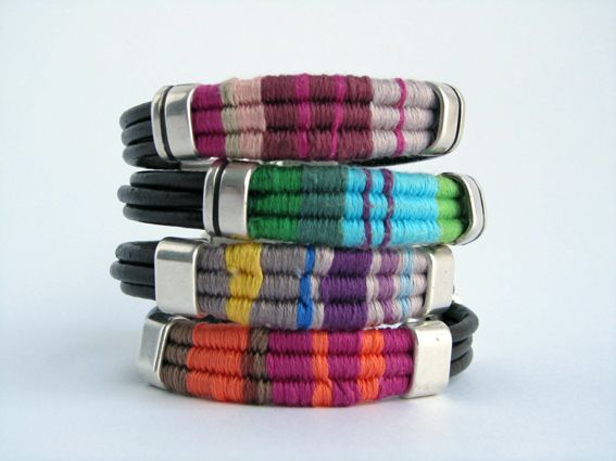 Leather bracelets and background color