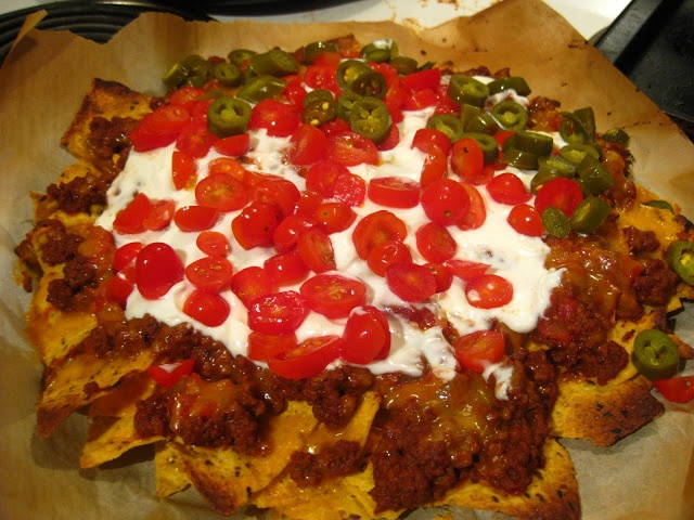 Skinny Loaded Nachos With Turkey, Beans And Cheese Recipe — Dishmaps