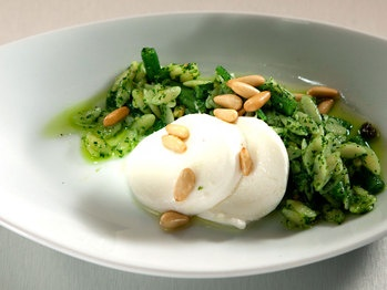 Haricot Vert, Orzo and Mozzarella with Pesto and Pine Nuts :: Top Chef ...