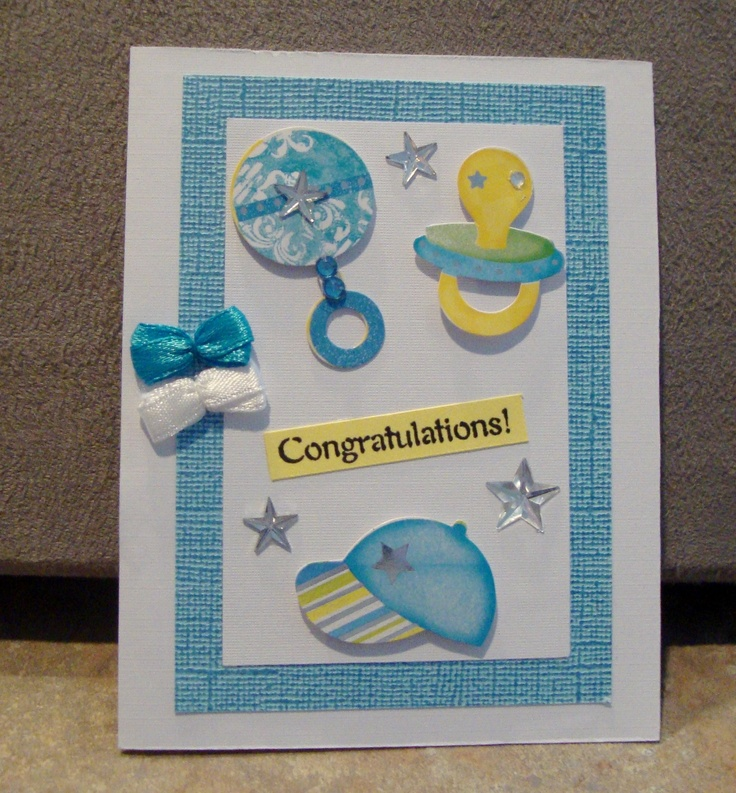 New Baby Boy   Homemade cards by Janie Cox   Pinterest