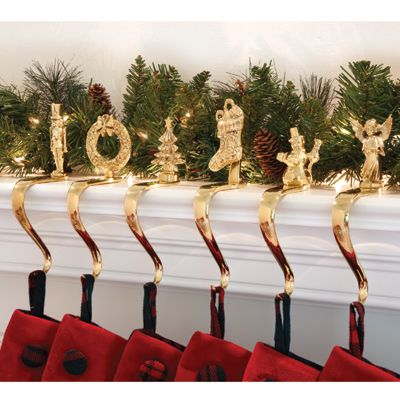 Solid Brass Stocking Holders. Hang your stockings with ...